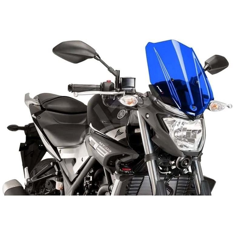 PUIG NEW. GEN TOURING modré pre YAMAHA MT-03 320 (2016 – 2019) - Plexi na moto
