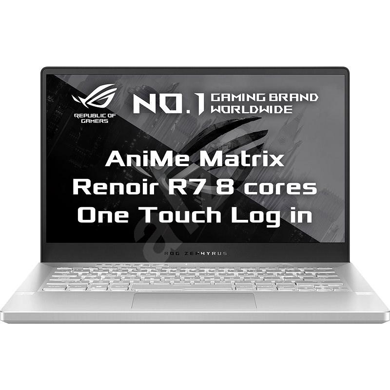 Asus ROG Zephyrus G14 Moonlight White AniMe Matrix version kovový - Herný notebook