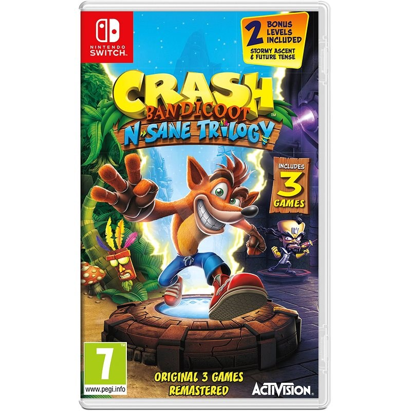 Crash Bandicoot N Sane Trilogy – Nintendo Switch - Hra na konzolu