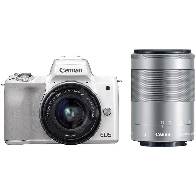 Canon EOS M50 biely + EF-M 15–45 mm IS STM + EF-M 55–200 mm - Digitálny fotoaparát