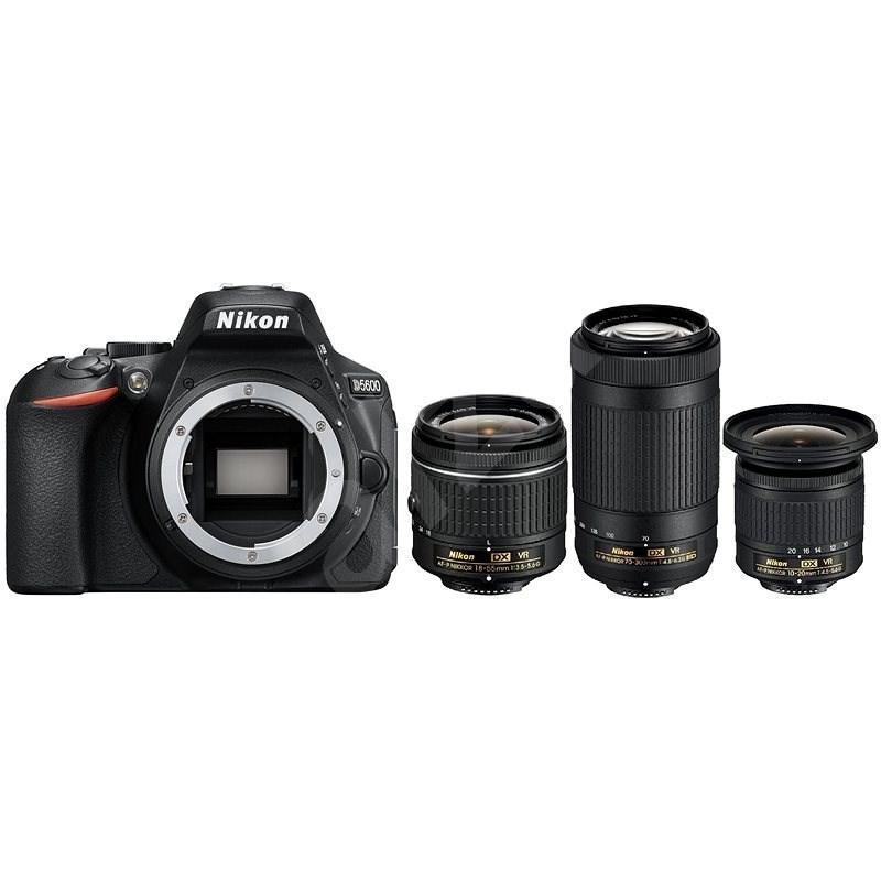 Nikon D5600 + AF-P 18–55 mm VR + 70–300 mm VR + 10–20 mm VR - Digitálny fotoaparát