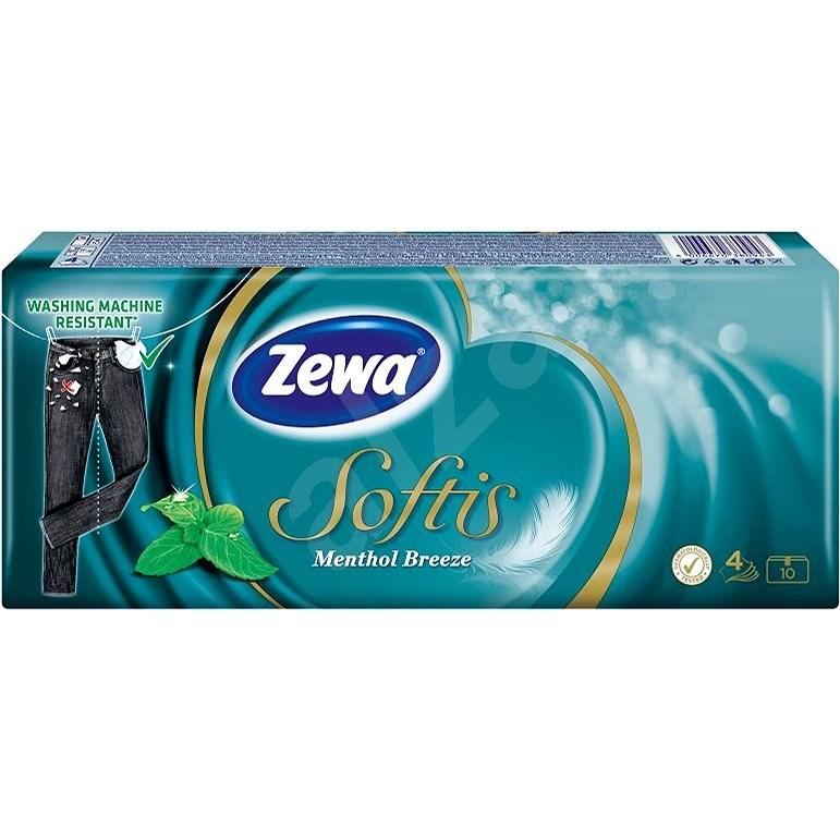 ZEWA Softis Mentol (10x9 ks) - Papierové vreckovky