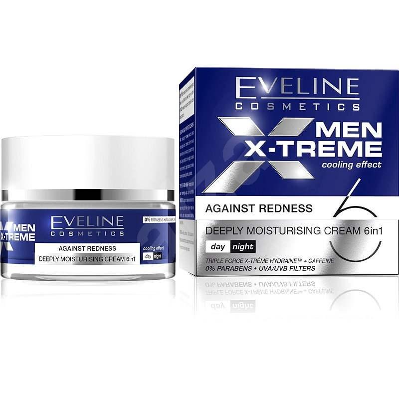 EVELINE Cosmetics Men X-treme deeply Moisturising cream 6in1 against Redness 50 ml - Pánsky pleťový krém