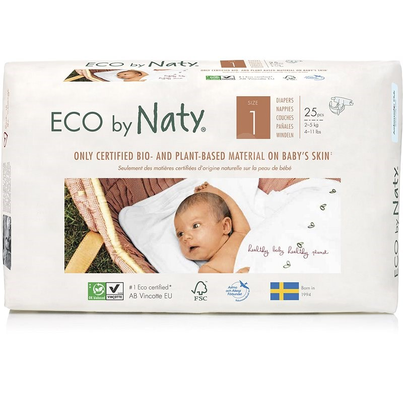 NATY Newborn veľ. 1 (25 ks) - Eko plienky