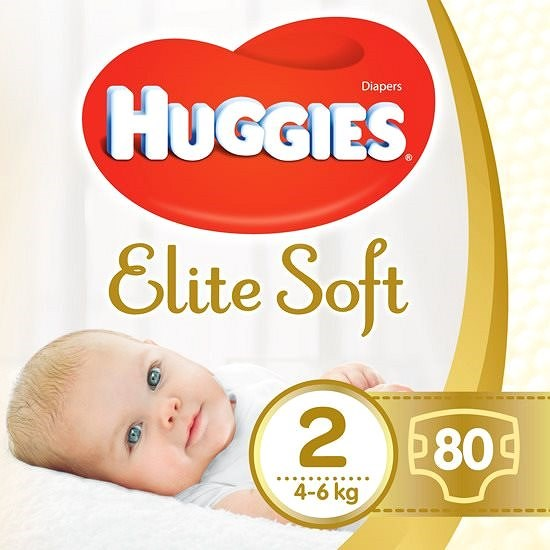 HUGGIES Elite Soft veľ. 2 (80 ks) - Detské plienky