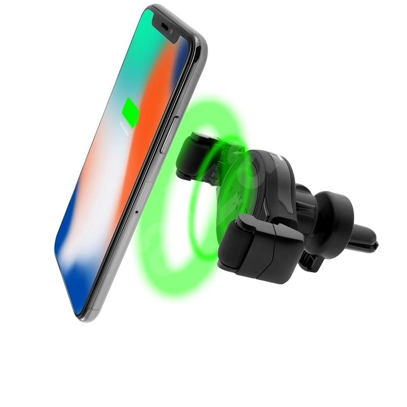 FIXED ROLL Wireless Charging čierny - Držiak na mobil