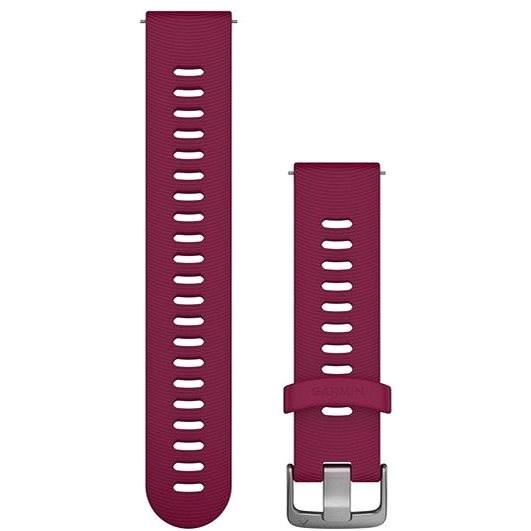 Garmin Quick Release 20 silikónový vínový (strieborná pracka) - Remienok