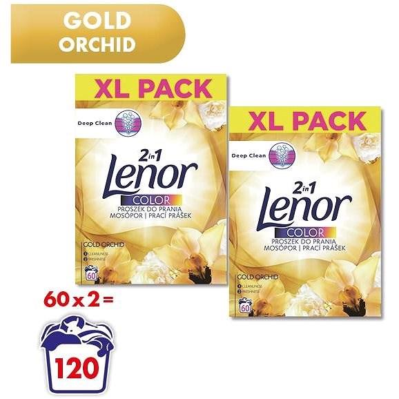 LENOR Gold Color 2× 3,9 kg (120 praní) - Prací prášok
