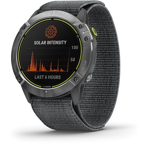 Garmin Enduro Steel/Grey UltraFit Nylon strap - Smart hodinky