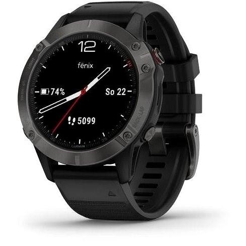 Garmin Fénix 6 Sapphire Carbon Gray/Black Band - Smart hodinky