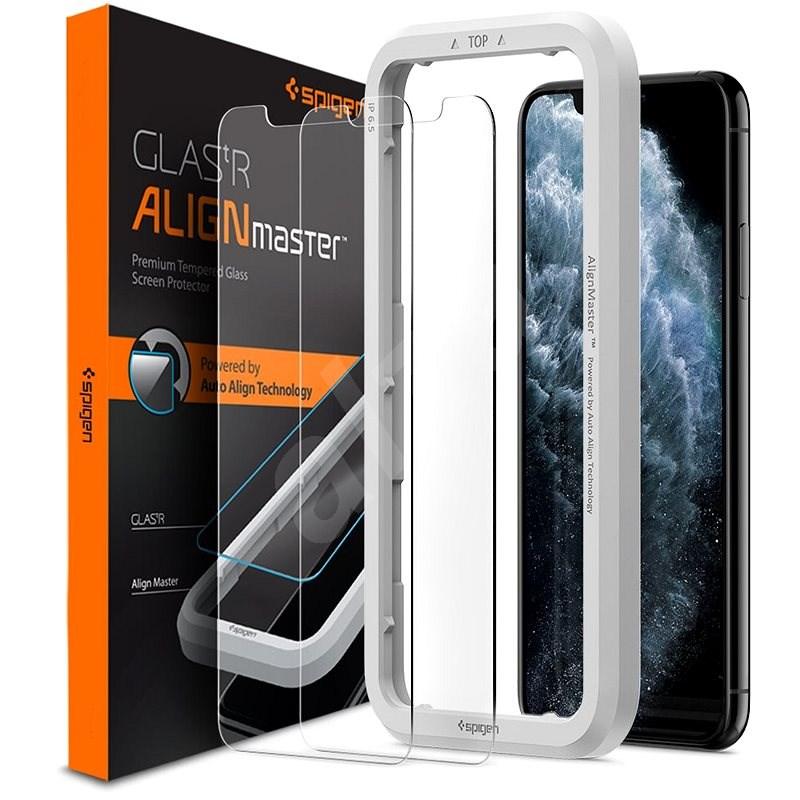 Spigen Align Glas.tR 2 Pack iPhone 11 Pro/XS/X - Ochranné sklo