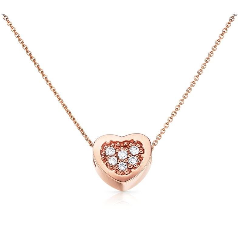 Dolcze Heart Dia Pink (Au 585/1000, 1,68 g) - Náhrdelník