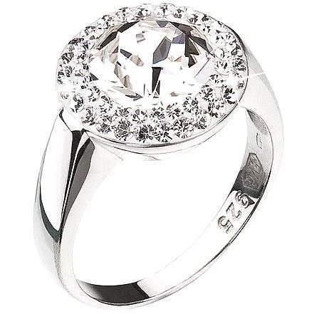 Prsteň zdobený kryštálmi Swarovski Krystal 35026.1 (925/1000; 4,8 g) veľ. 54 - Prsteň