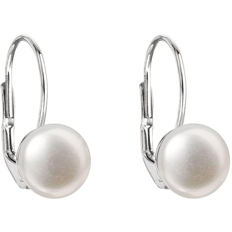 EVOLUTION GROUP 21009.1 visiace s riečnou perlou AA  8 – 8,5 mm (925/1000, 1 g, biela) - Náušnice