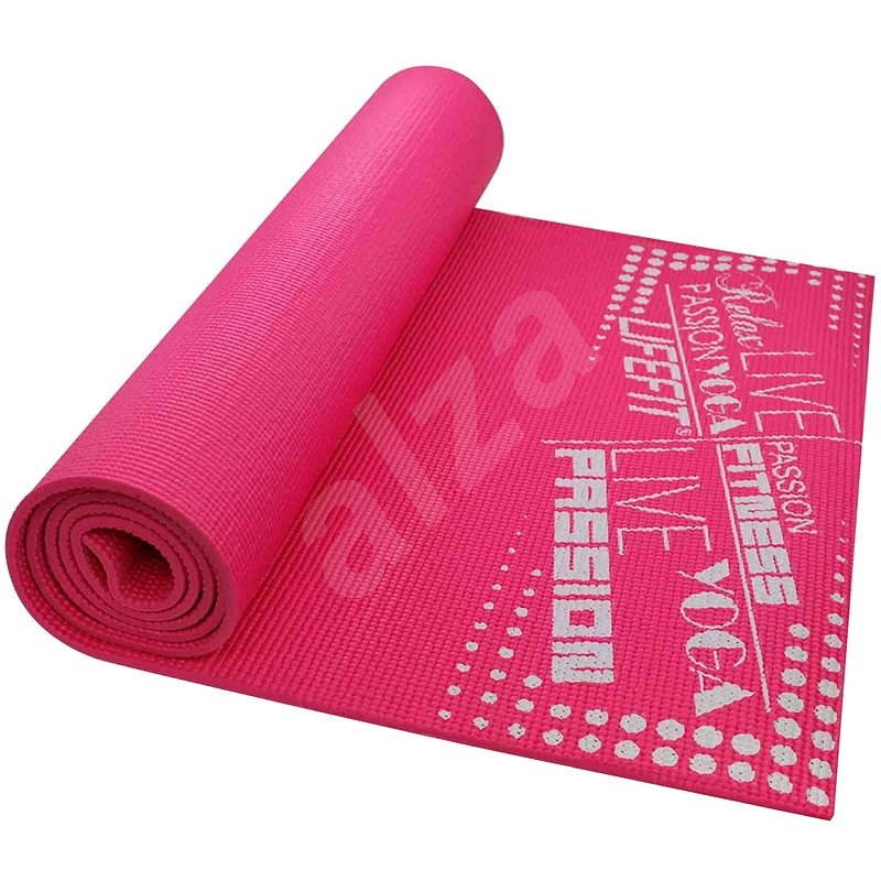 LifeFit Slimfit gymnastická svetlo ružová - Podložka na cvičenie