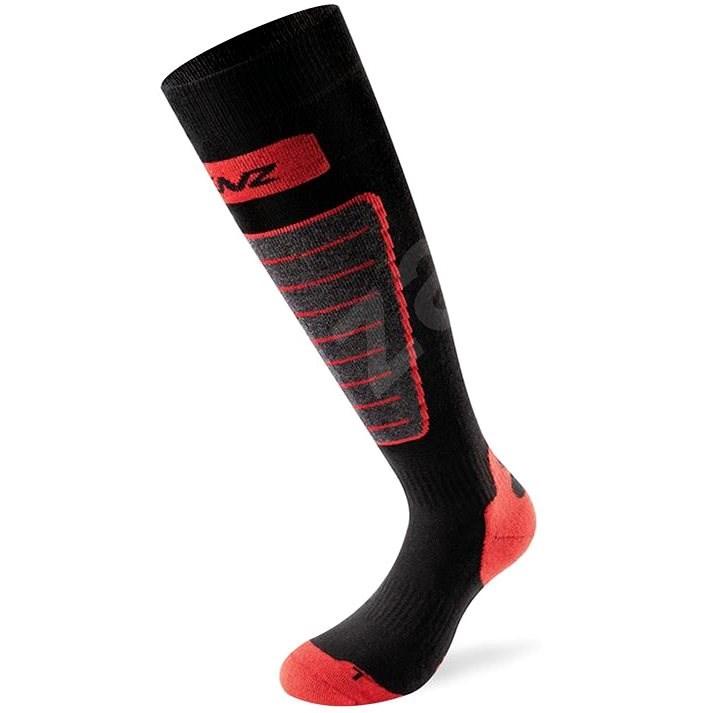 Lenz Skiing 1.0, 10-blk/grey/red, veľ. 35 – 38 - Lyžiarske ponožky