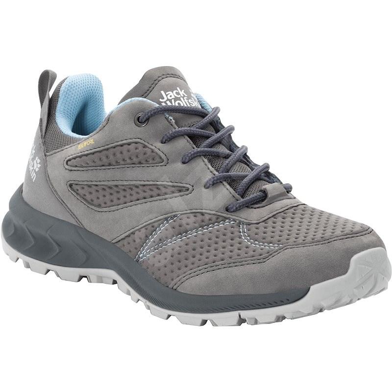 Jack Wolfskin Woodland Texapore low W sivá/modrá  EU 37/229 mm - Trekingové topánky