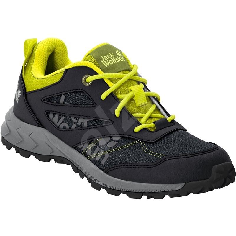 Jack Wolfskin Woodland low K čierna/žltá EU 36/220 mm - Trekingové topánky