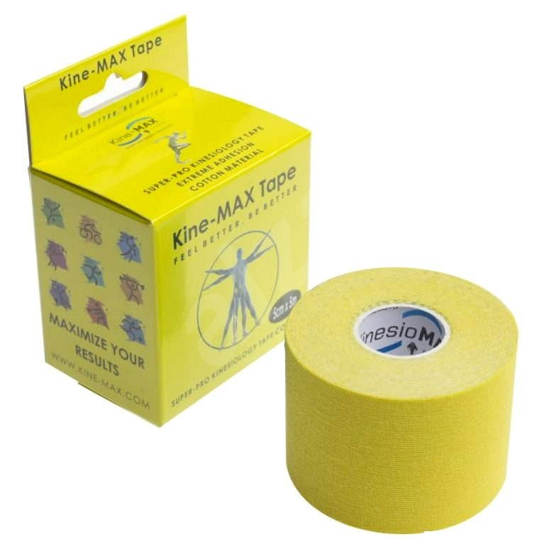 KineMAX SuperPro Cotton kinesiology tape žltá - Tejp