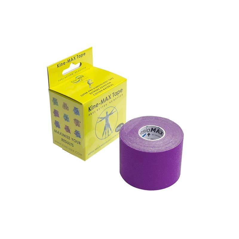KineMAX SuperPro Cotton kinesiology tape fialová - Tejp