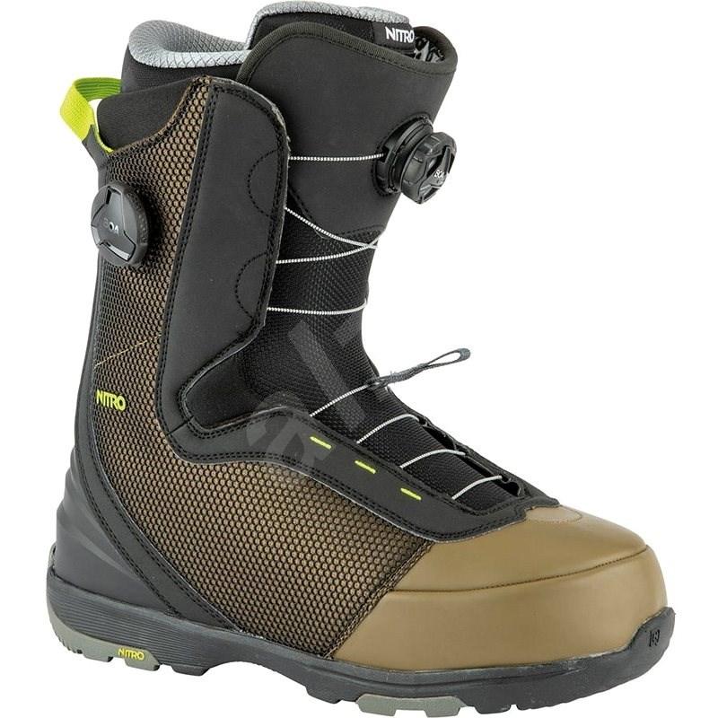 Nitro Club BOA Dual Olive-Black veľ. 41 1/3 EU/270 mm - Topánky na snowboard