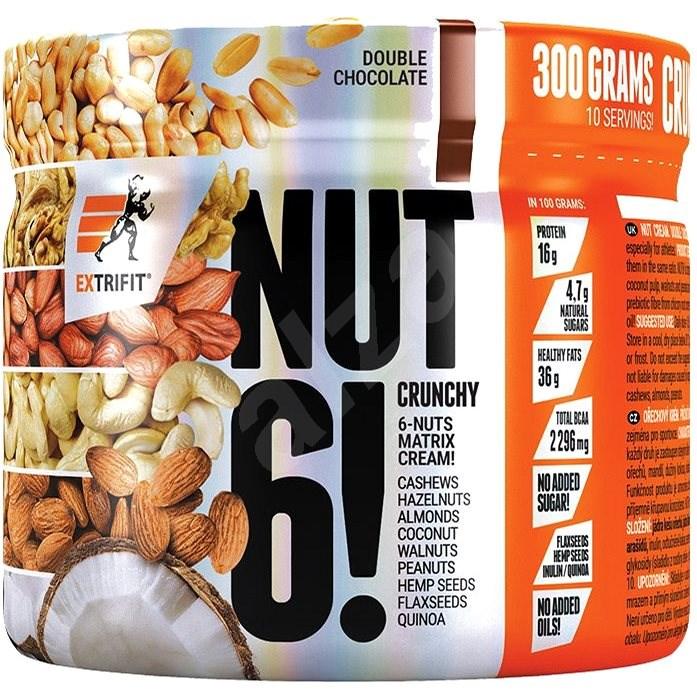 Extrifit Nut 6! 300 g double chocolate - Doplnok stravy
