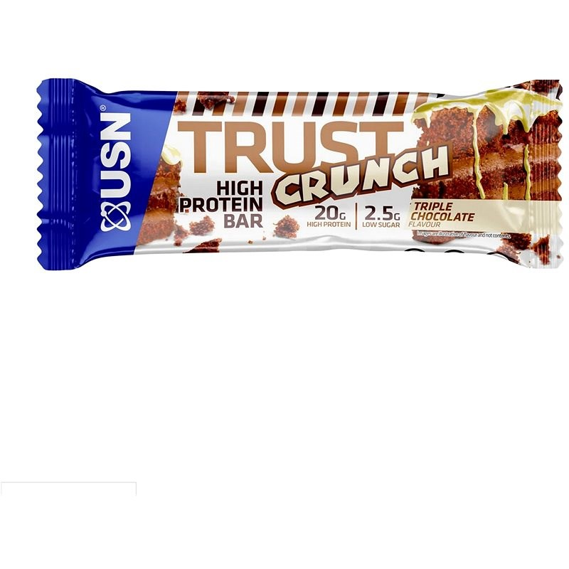 USN Trust Crunch, 60 g, tripple chocolate - Proteínová tyčinka