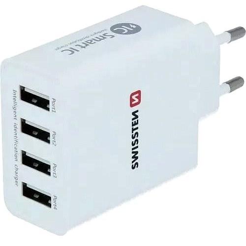 Swissten sieťový adaptér SMART IC 4× USB 5 A - Nabíjačka do siete
