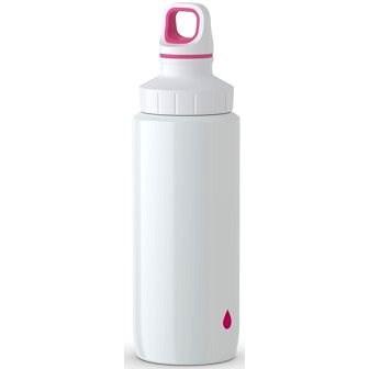 TEFAL DRINK2GO antikorová fľaša 0,6 l biela-ružová - Fľaša na vodu