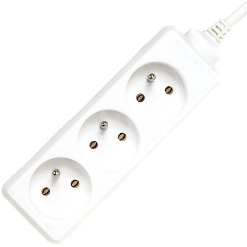 PremiumCord predlžovací prívod biely 10 m 230 V, 3 zásuvky - Predlžovací kábel