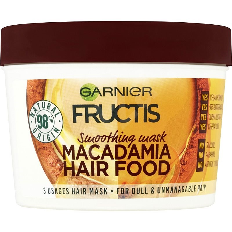 GARNIER Fructis Macadamia Hair Food 390 ml - Maska na vlasy