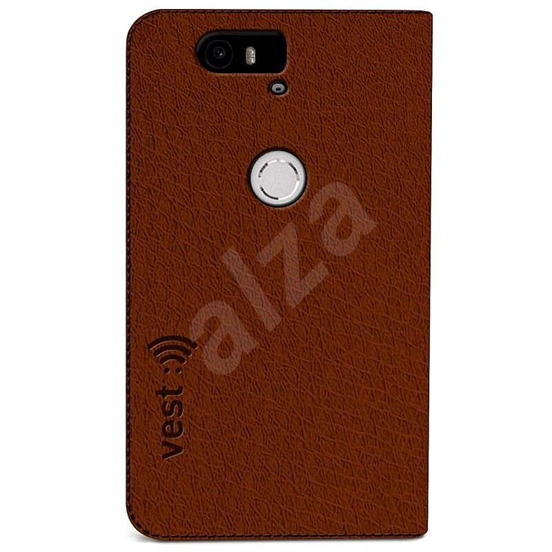 Vest Anti-Radiation pre Huawei Nexus 6P hnedé - Puzdro na mobil