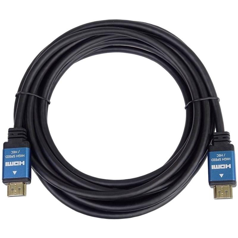 PremiumCord Ultra HDTV 4K @ 60 Hz kábel HDMI 2.0b kovové + pozlátené konektory 3 m - Video kábel
