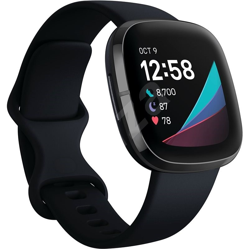 Fitbit Sense – Carbon/Graphite Stainless Steel - Smart hodinky
