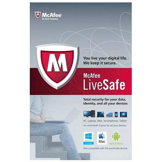 McAfee LiveSafe na 12 mesiacov (všetky jazykové verzie) - Antivírus