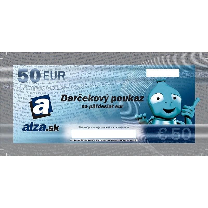 Darčekový poukaz Alza.sk na nákup tovaru v hodnote 50 € - Tlačený voucher
