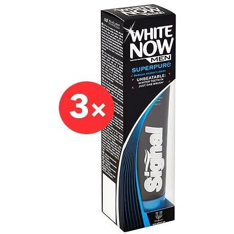 SIGNAL White Now Men Super Pure 3× 75 ml - Zubná pasta