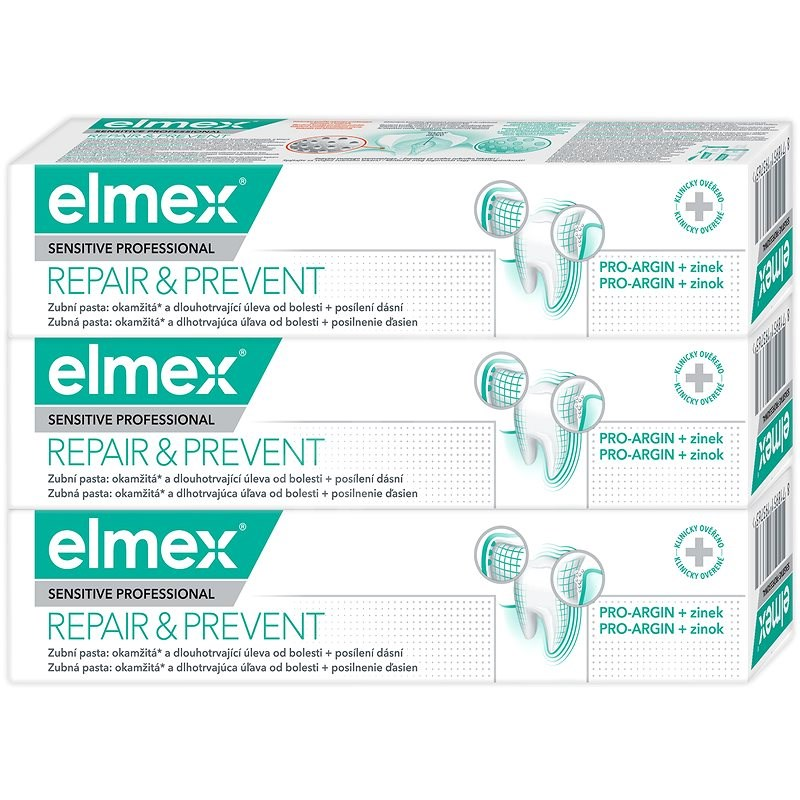 ELMEX Sensitive Professional Repair & Prevent 3× 75 ml - Zubná pasta