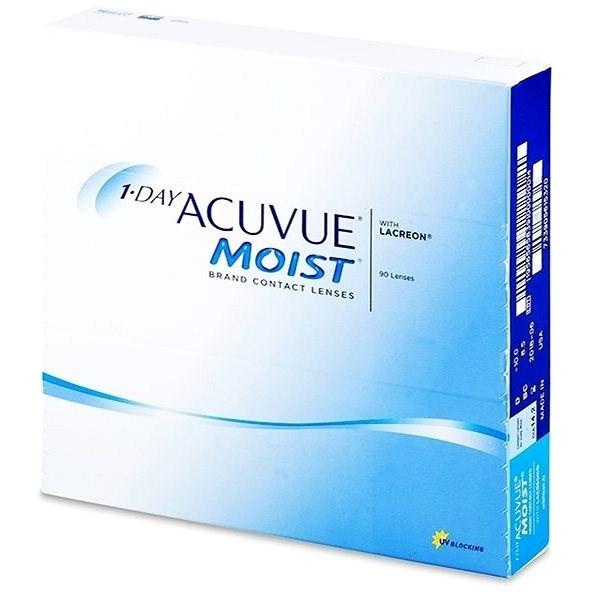Acuvue Moist 1 Day (90 šošoviek) dioptria: +5.25, zakrivenie: 8.50 - Kontaktné šošovky