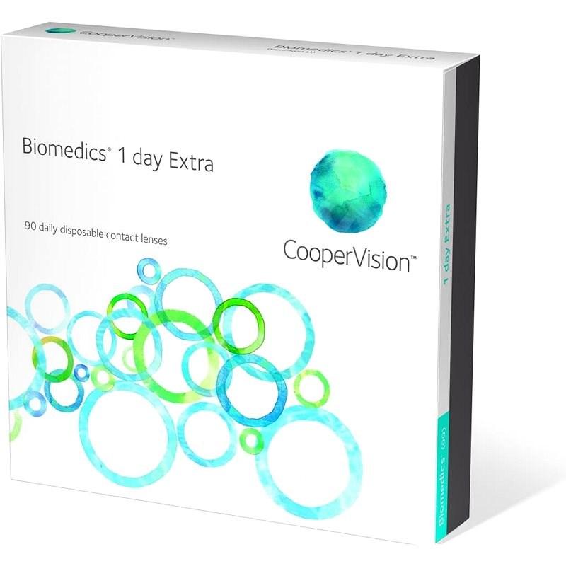 Biomedics 1 Day Extra (90 šošoviek) Dioptrie: +1.75, zakrivenie: 8.80 - Kontaktné šošovky
