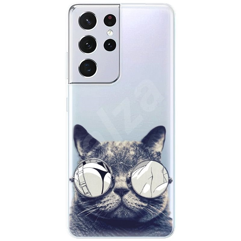 iSaprio Crazy Cat 01 pre Samsung Galaxy S21 Ultra - Kryt na mobil