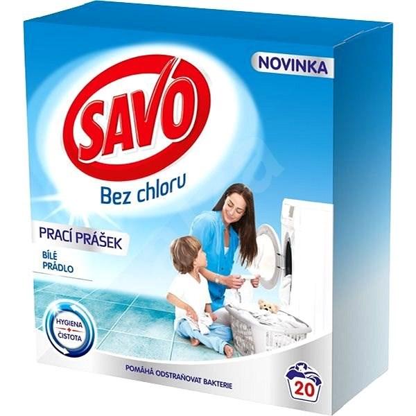 SAVO biela bielizeň 1,4 kg (20 praní) - Prací prášok