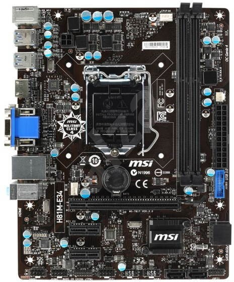 MSI H81M-E34 - Základná doska