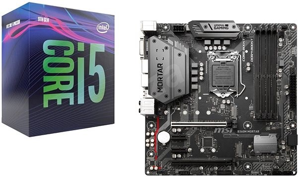 Akčný balíček MSI B360M MORTAR + CPU Intel i5-9400F - Set