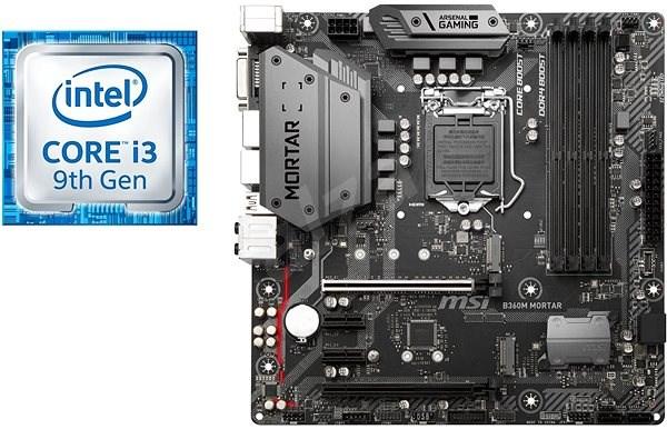 Akčný balíček MSI B360M MORTAR + CPU Intel i3-9100F - Set