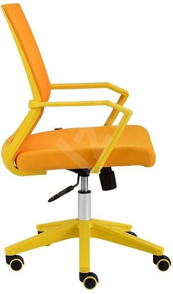 16daf6d68975 ALBA Merci žltá - Kancelárska stolička
