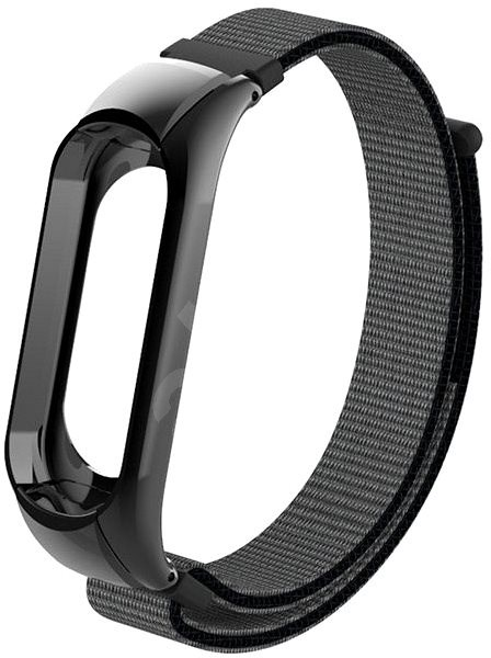 Eternico Mi band 3 Nylon Grey Black - Remienok