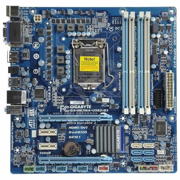 GIGABYTE H67MA-USB3-B3 - Základní deska
