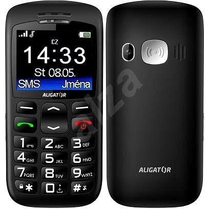Aligator A670 Senior Black + Stolná nabíjačka - Mobilný telefón
