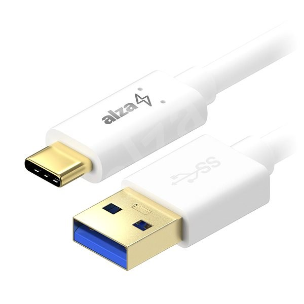AlzaPower Core USB-C 3.2 Gen1, 2 m White - Dátový kábel